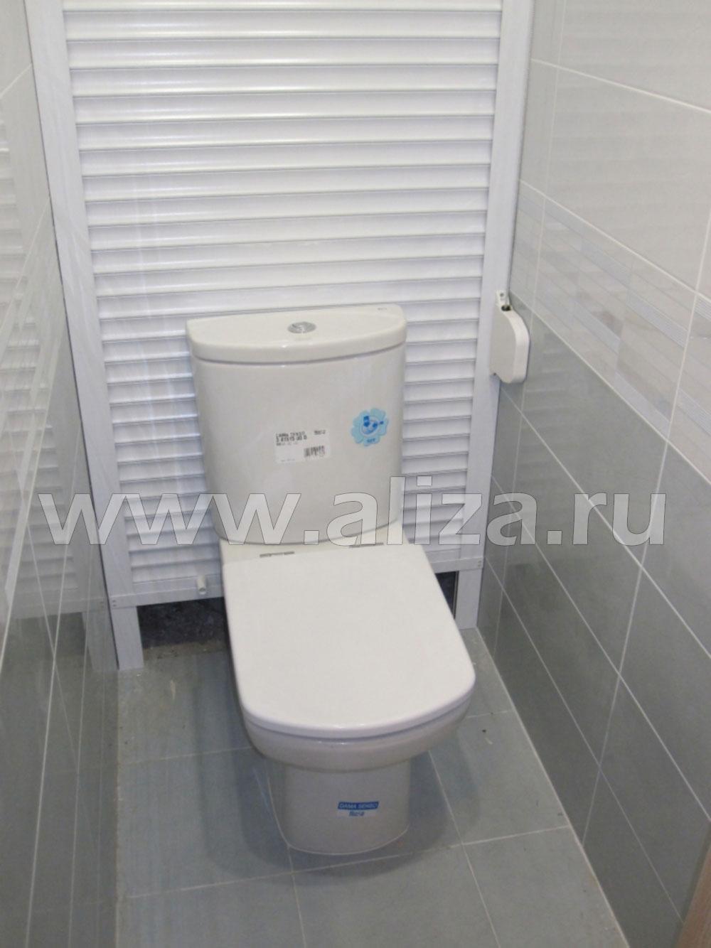 Рольставни в туалет дизайн